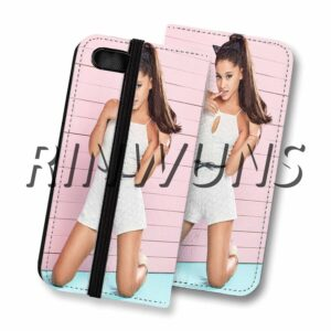 Rinwuns Ariana Grande Custom Leather Wallet Case Cover