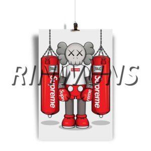 Rinwuns Kaws Supreme Custom Personalized Hanging Poster Wall Decor
